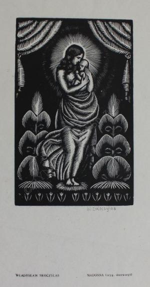 """Władysław Skoczylas (1883-1934), Madonna(z """"Sztuki Piękne"""", rocznik IV, 1927-1928)"""
