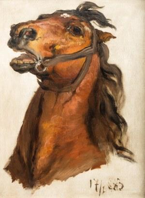 Jan Matejko (1838 Kraków – 1893 tamże), Głowa konia króla J.Sobieskiego do obrazu Sobieski pod Wiedniem, 1883 r.