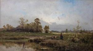 Zygmunt Sidorowicz (1846 Lwów - 1881 Wiedeń), Na przechadzce. Spacer, 1880 r.