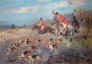 Wojciech Kossak (1856 Paryż - 1942 Kraków), Polowanie par force