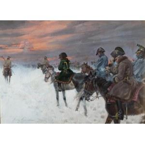 Jerzy Kossak (1886 Kraków - 1955 tamże), Wizja Napoleona w odwrocie spod Moskwy, 1938 r.