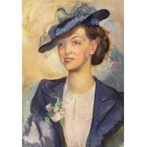 Antoni Michalak (1899 Kozłów Szlachecki - 1975 Kazimierz Dolny), Portret kobiety, 1939 R.