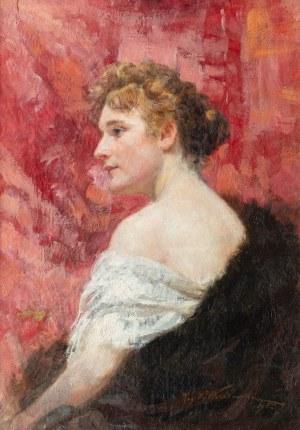 Kazimierz Władysław Wasilkowski (1861 Lublin - 1934 Warszawa), Portret kobiety, 1895 r.