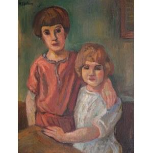 Henryk Epstein (1891 Łódź - 1944 Auschwitz), Dwoje dzieci, ok. 1924 r.