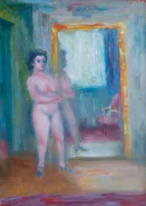 Jakub Zucker (1900 Radom - 1981 Nowy Jork), Akt przy lustrze