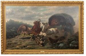 Francis Backvis (1857 Bruksela - 1926 tamże), Konie