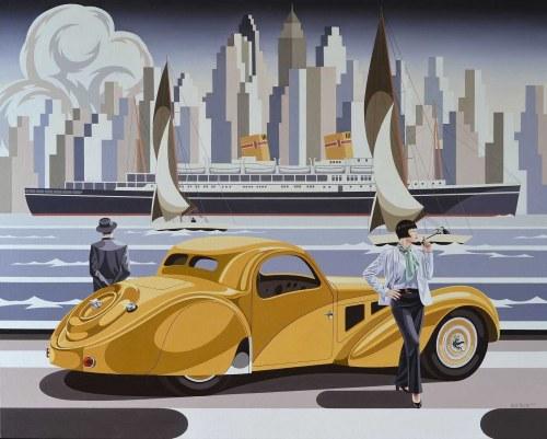 Tomasz Kostecki, Kobieta i żółte Bugatti, 2020