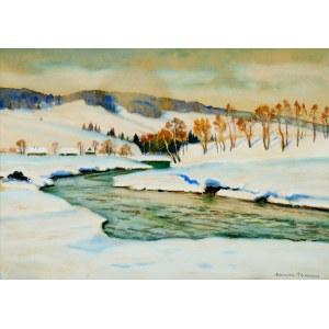 Mieczysław Filipkiewicz (1891-1951), Zima w górach, ok. 1930