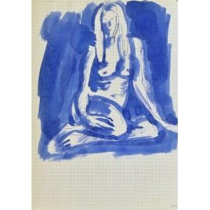 Jerzy Panek (1918-2001), Akt kobiety dziewczyny siedzącej