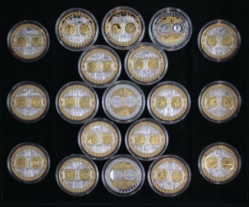19 medali upamiętniających wprowadzenie euro