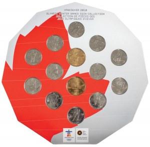Zestaw monet upamiętniających Zimowe Igrzyska Olimpijskie w Vancouver