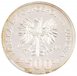 500 zł, XIV Mistrzostwa Świata w Piłce Nożnej, 1988