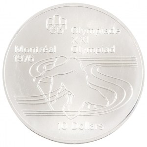 10 dolarów, XXI Olimpiada - Kajakarstwo, Kanada, 1975