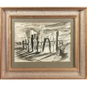 """Tadeusz KANTOR (1915-1990), """"Postęp"""" - szkic kompozycji scenograficznej?"""