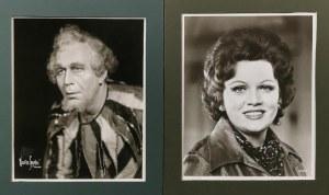 Maurice ZELDMAN (1900-1993), Seymour ZELDMAN (1902-1995) oraz Fotograf nierozpoznany, Para fotografii - Śpiewacy operowi Jerzy Czaplicki i Teresa Kubiak