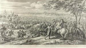 Charles Louis  SIMONNEAU (1645-1728), Le Rhin passe a la nage par les Francois