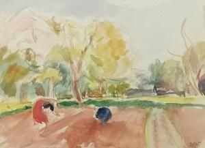 Wojciech WEISS (1875-1950), Wiosenne prace w kalwaryjskim sadzie, 1911