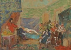 Fryderyk PAUTSCH (1877-1950), W pracowni malarza, 1942