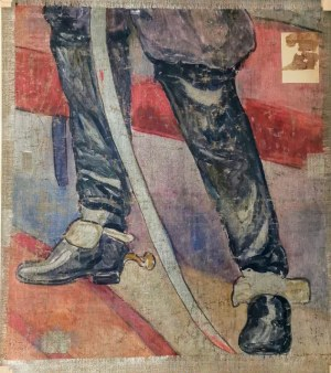 Józef WRZESIŃSKI (1872-?), Pejzaż zimowy ze strumieniem