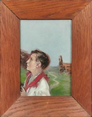 Wlastimil HOFMAN (1881-1970), Chłopiec modlący się, lata 50. XX w.