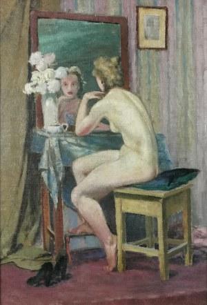 Malarz nieokreślony, XX w., Akt kobiety przed toaletką