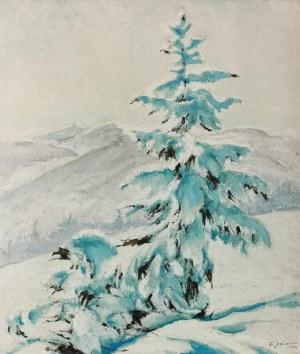 Franciszek JAŹWIECKI (1900-1946), Świerki w śniegu, 1939