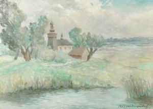 Roman Antoni BREITENWALD (1911-1985), Pejzaż - Motyl
