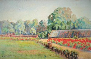 Karol ENDE (1881-1962), Wiosenne podwórko