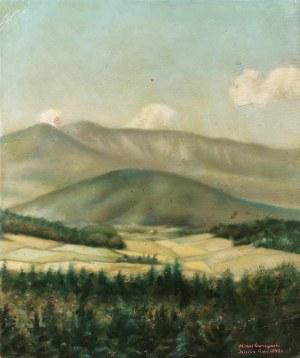 Michał GACZYŃSKI (1896-?), Widok na Śnieżkę, 1949