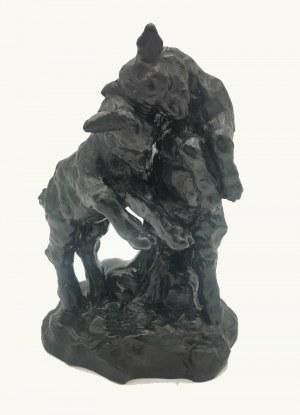 Autor nieustalony - Konstanty LASZCZKA (1865-1956) ?, Walczące koziołki