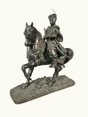 Piotr THIES (brązownik, czynny ok. poł. XIX w.) - według, Król Jan III Sobieski konno