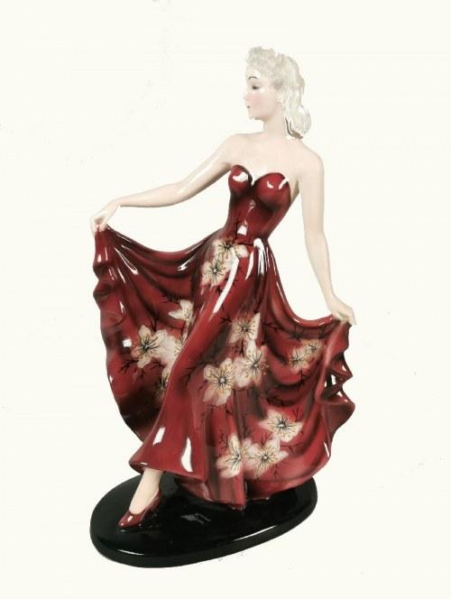 Wytwórnia WALTERA GOLDSCHEIDERA, Phantasie (Tancerka w długiej sukni) - figurka art déco