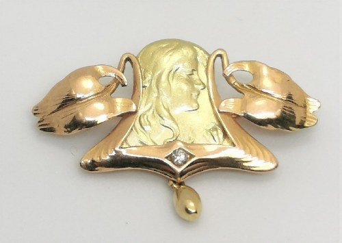 Broszka złota