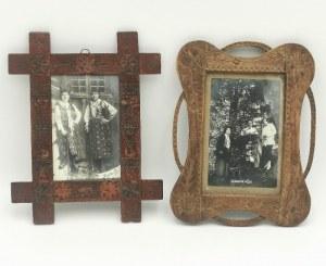 Para ramek zakopiańskich do fotografii