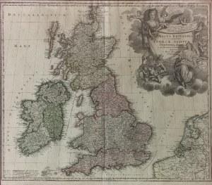 Johann Baptist HOMANN (1664-1724), Mapa Wielkiej Brytanii