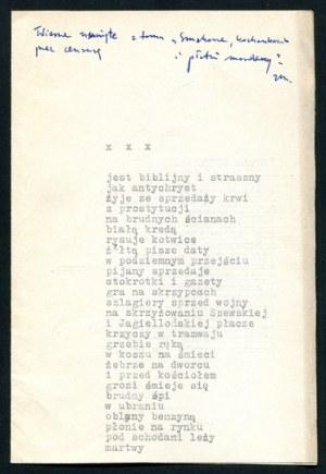 MACHEJ Zbigniew - Smakosze, kochankowie i płatni mordercy. (Wiersze z lat 1978-1981). Warszawa 1984. Czytelnik. 16d, s