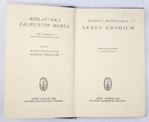 MAETERLINCK Maurycy - Skarb ubogich. Przekł. autoryzowany F.Mirandoli. Lwów-Poznań 1926. Nakł. Wydawnictwa Polskiego