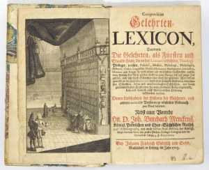 COMPENDIÖSESGelehrten-Lexicon. Lipsk 1715.