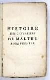 VERTOT [René Aubert] de - Dzieje Zakonu Maltańskiego po francusku. Paryż 1772