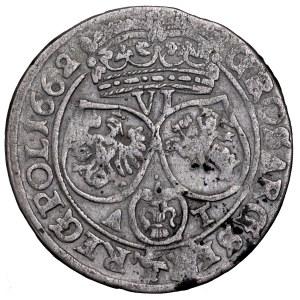 Jan II Kazimierz, szóstak 1662 AT, obwódki