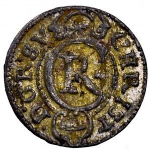 Szwedzka okupacja Rygi i Inflant, Krystyna Waza, szeląg 1645, Liwonia - rzadki