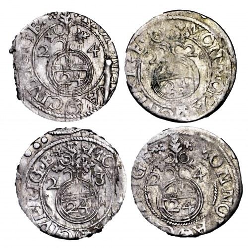 Szwedzka okupacja Rygi i Inflant, Gustawa Adolfa, zestaw 4 półtoraków