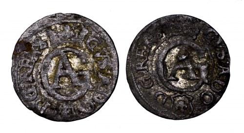 Gustaw Adolf, zestaw 2 szelągów, Elbląg