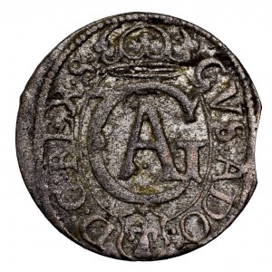 Gustaw Adolf, szeląg 1630, Elbląg - ładny