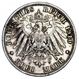 Niemcy, Prusy, 3 marki 1910 A