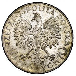 II Rzeczpospolita, 10 złotych 1932, Polonia, Warszawa - piękne