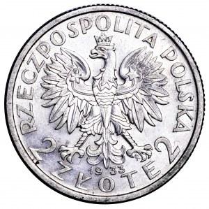 II Rzeczpospolita, 2 złote 1933, Polonia - wyśmienite