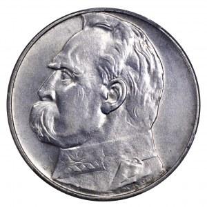 II Rzeczpospolita, 10 złotych 1937, Piłsudski - PCGS AU58