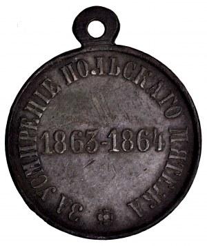 Rosja, medal za stłumienie Powstania Styczniowego 1863-1864, rzadkie