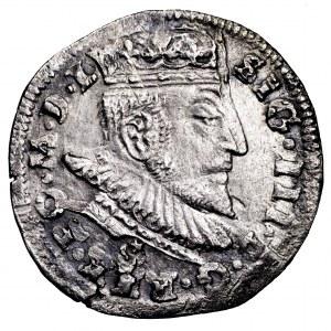 Zygmunt III Waza, trojak 1590, Wilno - Leliwa, rzadkość